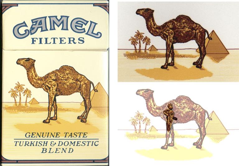Subliminal advertising camel